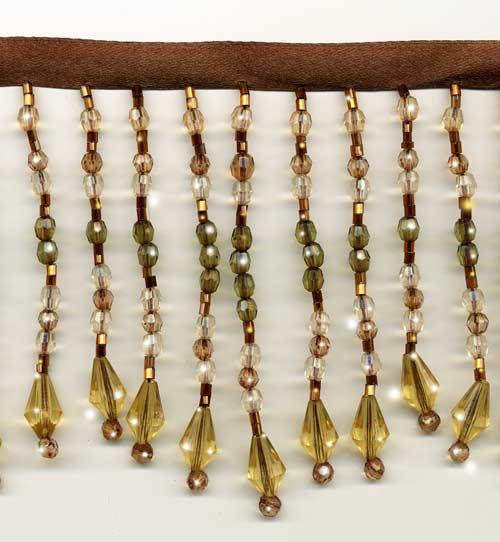 """Chic Beaded Fringe - """"Golden Jewels"""" - 10 yard bolt - Product Image"""