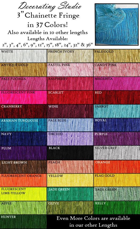 "3"" Rayon Chainette Fringe Yard(s) - Product Image"