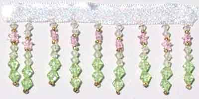 Iridescent Teardrops of Joy Beaded Trim - 10 yard bolt - Product Image