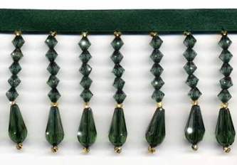 Emerald Green Decor Beaded Fringe- Yard(s) - Product Image