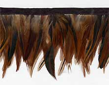 """""""Auburn Brown"""" Feather Trim -  Sample - Product Image"""