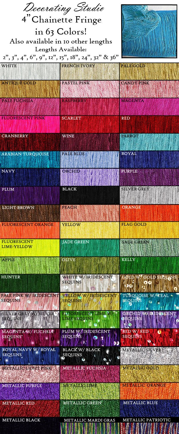 "4"" Rayon Chainette Fringe Yard(s) - Product Image"