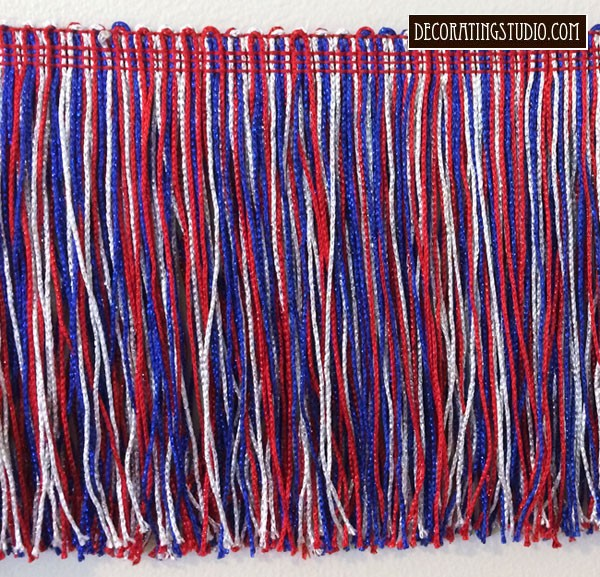 Metallic Patriotic (4th of July) Chainette Fringe Trim Yards(s) - Product Image