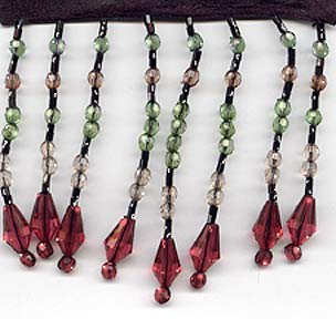 "Chic Beaded Fringe - ""Ruby Nights"" - 10 yard bolt - Product Image"