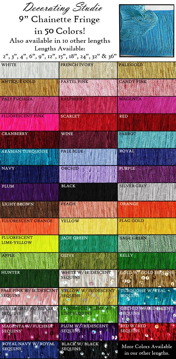 "9"" Rayon Chainette Fringe Yard(s) - Product Image"