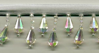 "Beaded Drop Fringe Trim - ""Northern Iridescent Lights"" yard(s) - Product Image"