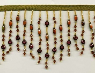 New Mexico Sunset Beaded Fringe - Yard(s) - Product Image