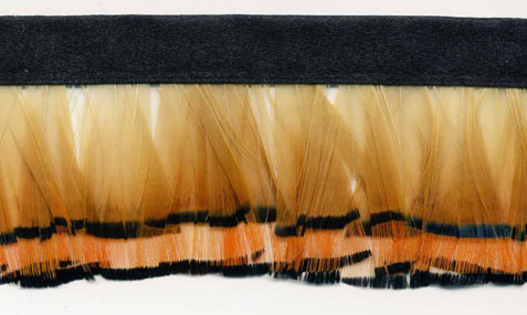 """Asian Gold"" Feather Trim - 10 Yd Bolt - Product Image"