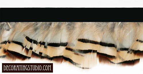 """Cafe au Lait"" Feather Trim - Yard(s) - Product Image"