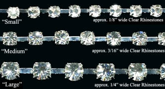 Crystal Clear Rhinestone Trim - Product Image