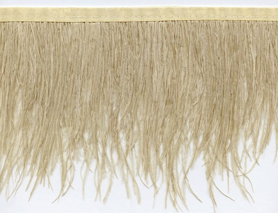 "Ostrich Feather Trim in ""Camel"" - Yard(s) - Product Image"