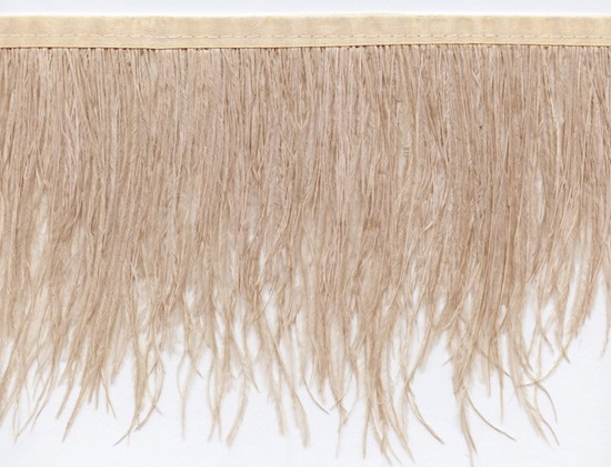 "Ostrich Feather Trim in ""Champagne"" - Yard(s) - Product Image"