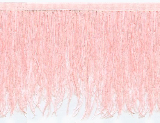 "Ostrich Feather Trim in ""Pale Pink"" - Yard(s) - Product Image"