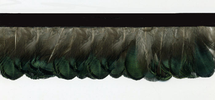 """Peacock Dance"" Feather Trim - 10 Yd Bolt - Product Image"